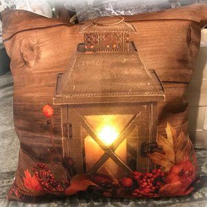 NEW Cushion Cover only LED Country FALL CANDLE